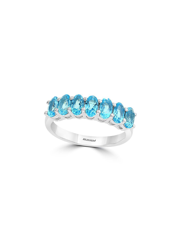 Sterling Silver & Blue Topaz Ring