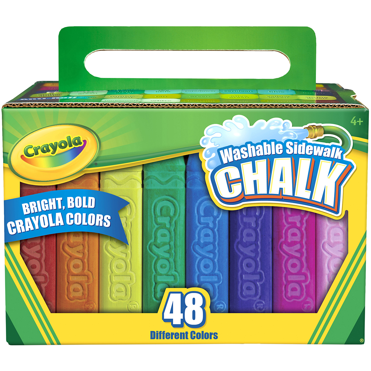 Crayola Washable Sidewalk ChalkAssorted Colors 48/Pkg