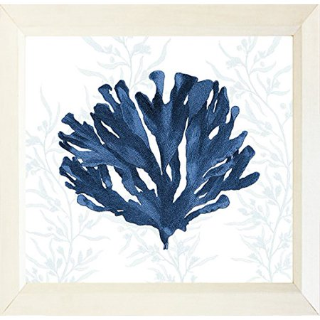 FRAMED Navy Coral II 12x12 Nautical Art Print Wall Home Decor by Stacey PowellMADE IN THE USA! ()