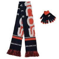 Denver Broncos Women's Glove and Scarf Set