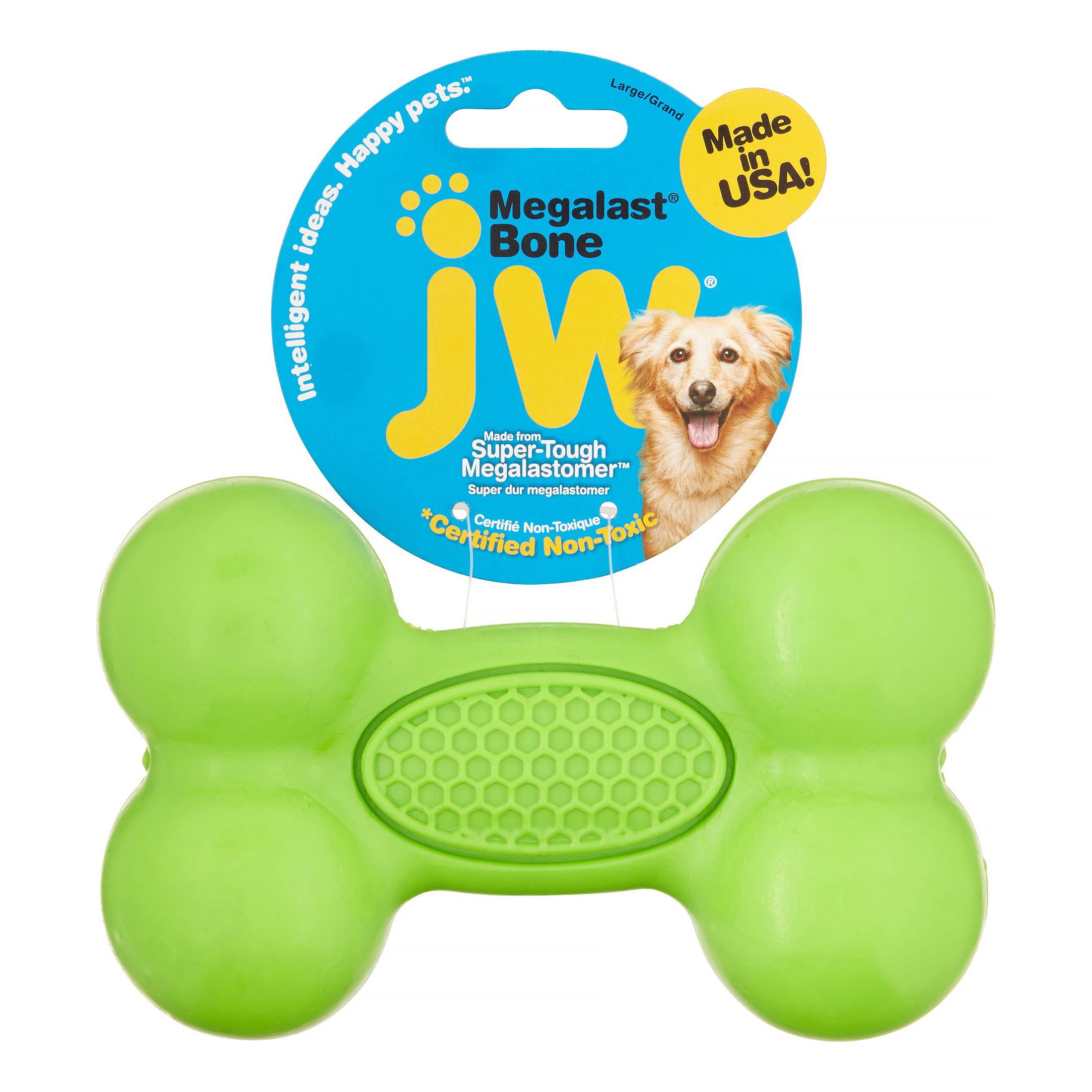Petmate JW MegaLast Bone Dog Toy, Large, Assorted Colors