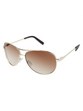 Jessica Simpson Women's Metal Aviator Sunglasses with 100% UV Protection, 60 mm