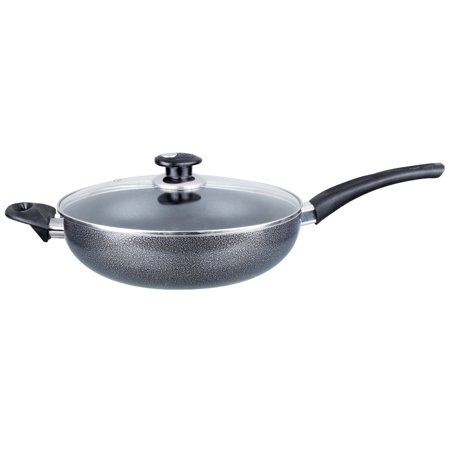 Brentwood Wok W/ Lid Aluminum Non-Stick 12
