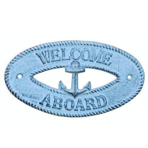 Handcrafted Nautical Decor Welcome Aboard Sign Wall D cor