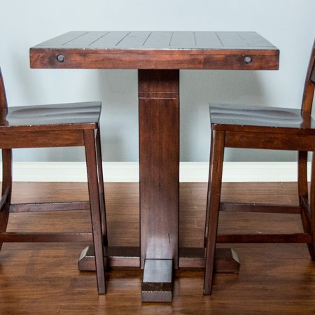 Sunny Designs Vineyard Adjustable Height Pub Table Walmartcom - Adjustable height cafe table