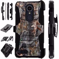 For LG Stylo 3 Case / LG Stylo 3 Plus Case (2017) LS777 MP450 M430 Case Heavy Duty Hybrid Armor Dual Layer Cover Kick Stand Rugged LuxGuard Holster (Camo Tree)