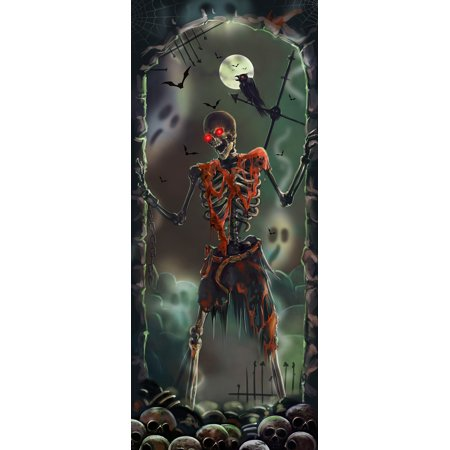Halloween Lights & Sounds Door Panel - Skeleton