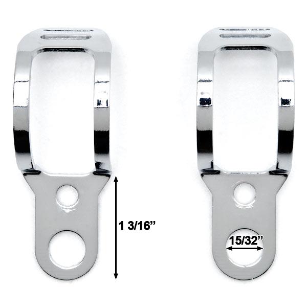Chrome Turn Signal Mount Brackets Fork Ear 30-37mm For Honda Shadow Aero Phantom VLX 750 1100 - image 2 of 8