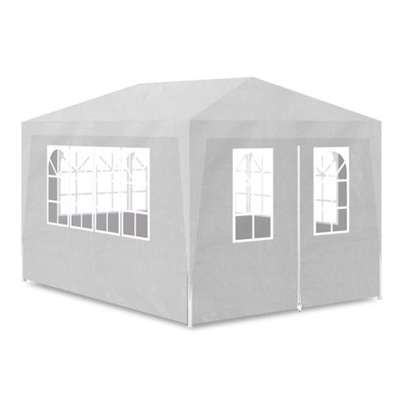 OnlineGymShop CB19002 10 x 13 ft. Outdoor Canopy Gazebo Party Tent with 4 Walls - White