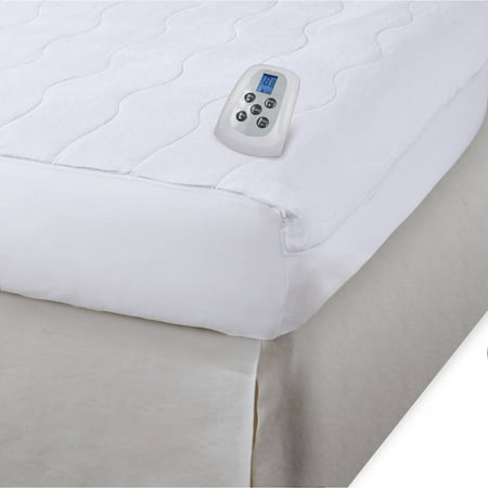 (Serta Plush Velour Sheet Warming Mattress Pad with Programable Digital Controller)