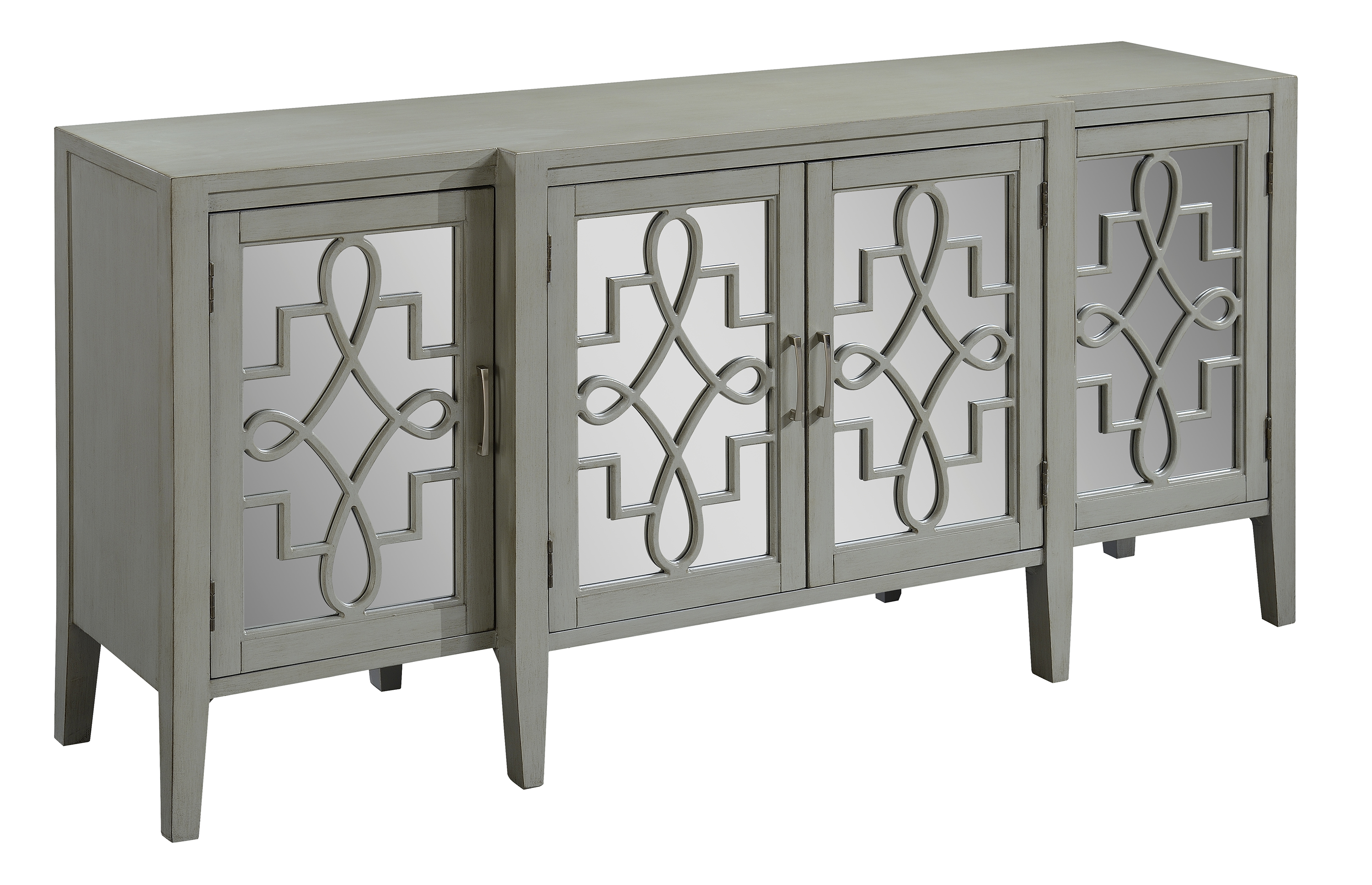 Manry Park Burnished Grey Four Door Media Credenza by