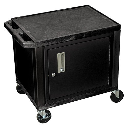 H. Wilson Black Tuffy Utility Cart with Cabinet