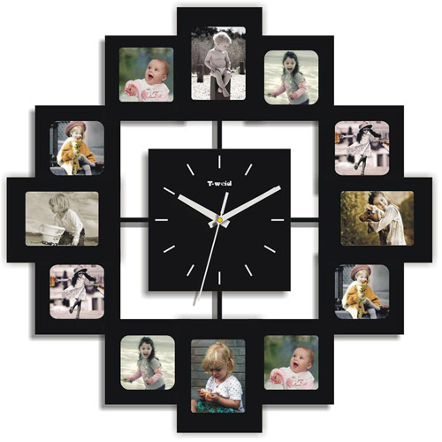 12 Photo Frames and Clock