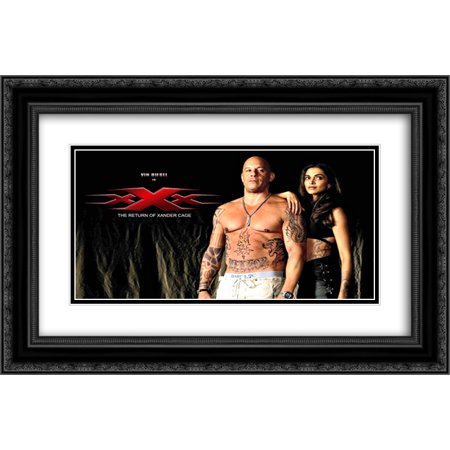 Xxx 24X18 Double Matted Black Ornate Framed Movie Poster Art Print
