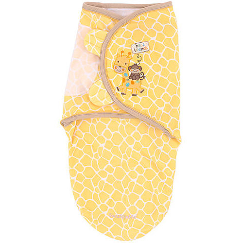 Summer Infant - SwaddleMe Pure Love Swaddling Blanket, Joy Full Giraffes, Small