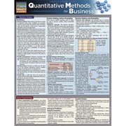 BarCharts 9781423216612 Quantitative Methods For Business Quickstudy Easel