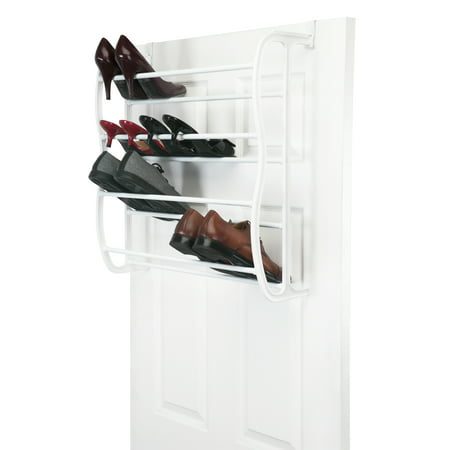 Simplify 36 Pair over The Door Shoe Rack - 12 Tiers-
