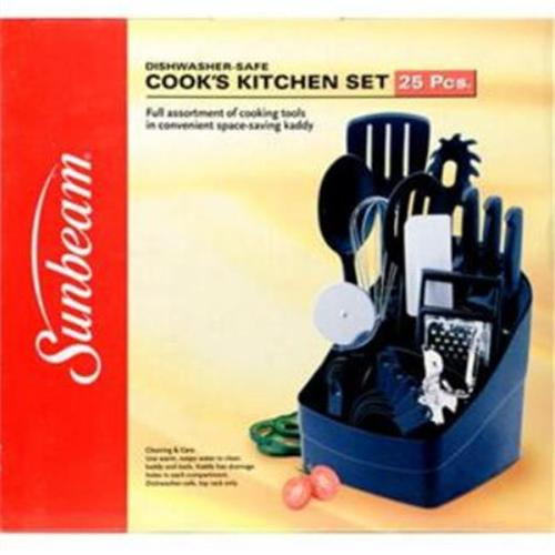 Sunbeam 63015 25 pc Cooks Kitchen Set Black