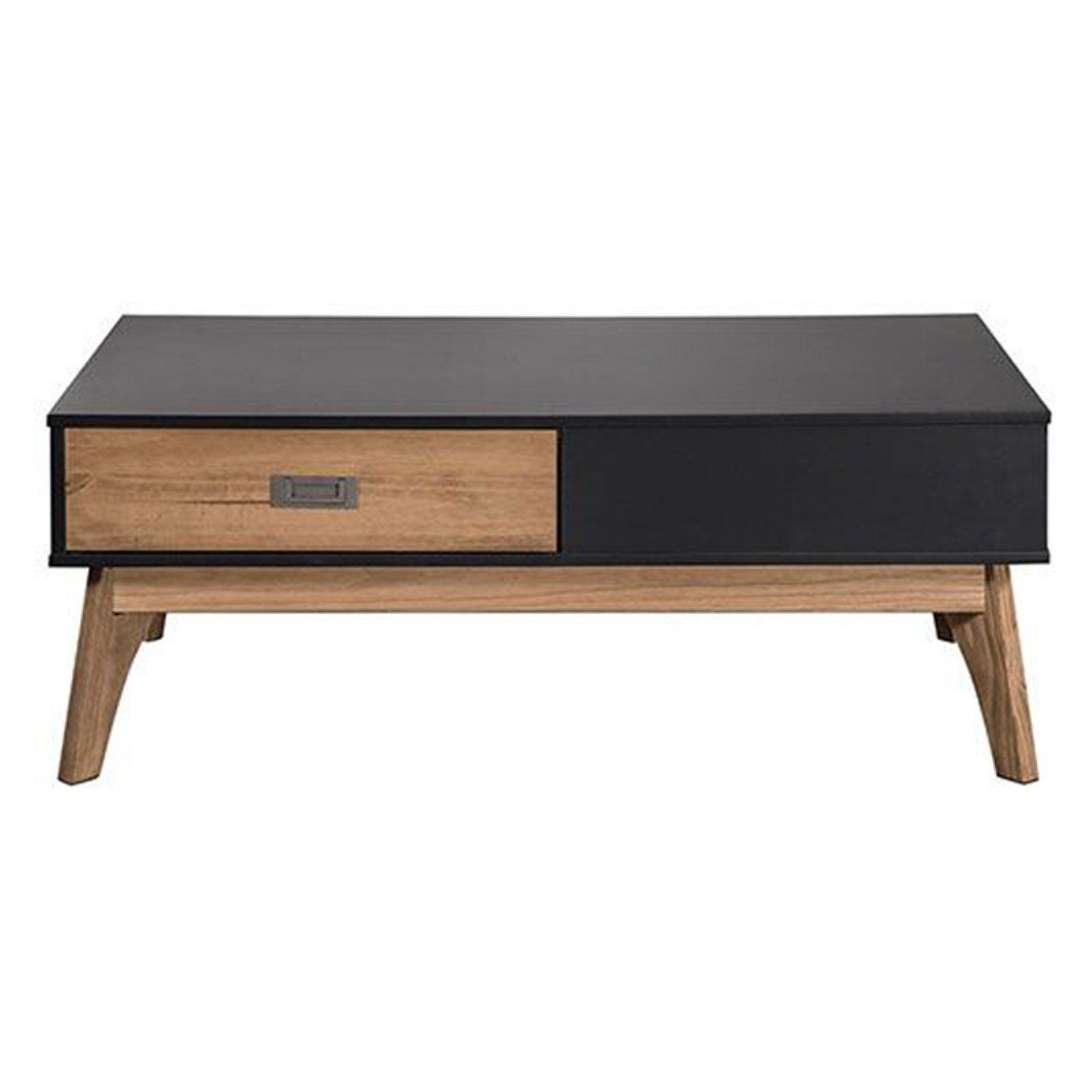 Rustic Mid-Century Modern 2-Drawer Jackie 2.0 Coffee Table