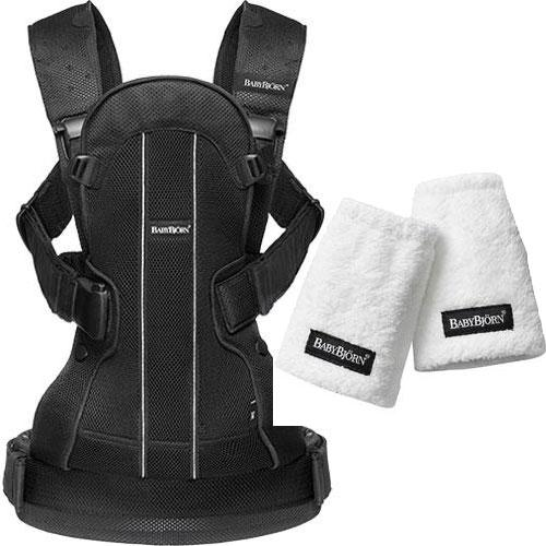 Baby Bjorn We Air Baby Carrier with teething Pads for Baby Carrier Black Mesh by Baby Bjorn