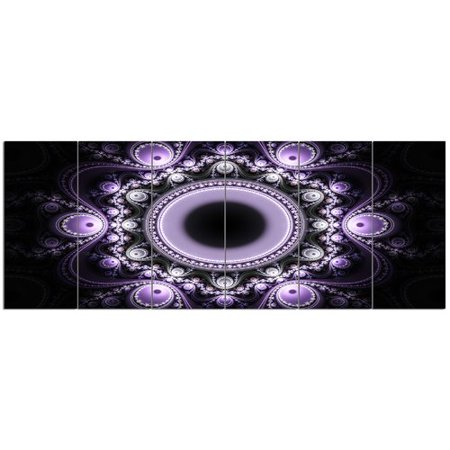 6 Graphic Designs - Design Art 'Light Purple Pattern with Circles'  6 Piece Graphic Art Print Set on Canvas