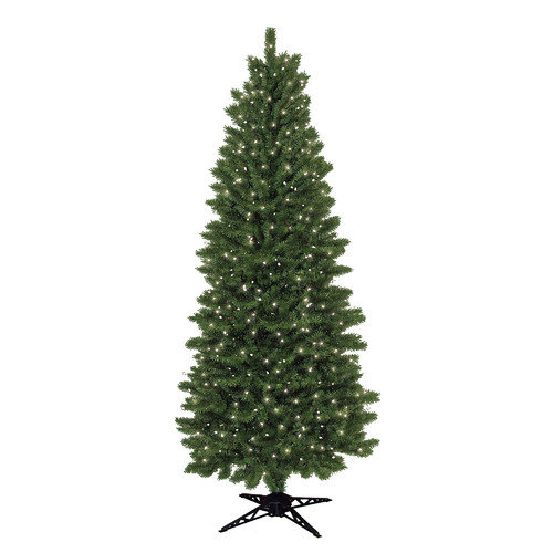 General Foam Plastics 7' Slim Spruce Artificial Christmas Tree with 450 Clear Lights