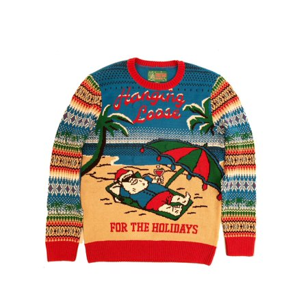 Ugly Christmas Sweater Plus Size Women's Hangin Loose Light Up Sweatshirt](Plus Size Christmas Sweater)