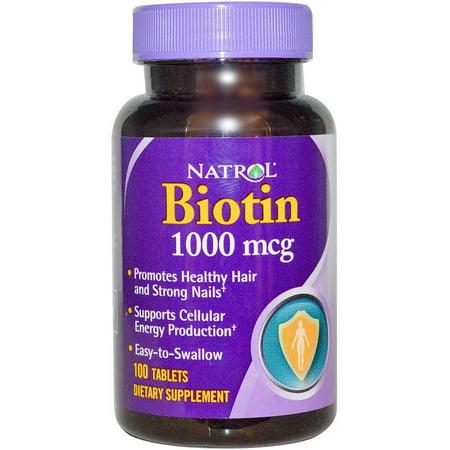Natrol Biotine Comprimés, 100 CT
