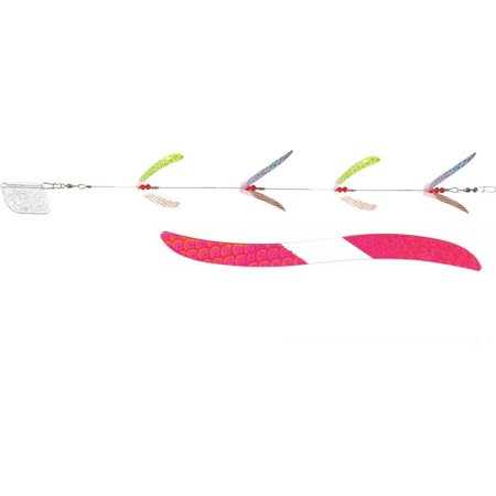 Mack's Lure Flash Lite Trolls 4-Blade, Pink/Red (Best Dolphin Trolling Lures)