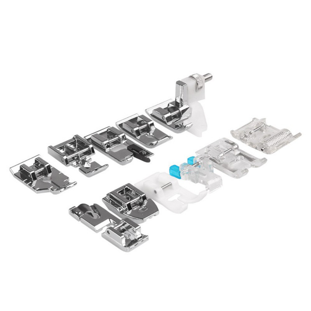 Sewing Machine Presser Foot Professional Domestic 11Pcs Sewing Machine Presser Feet Set Fit Brother, Janome, Toyota, New Singer Domestic Sewing Machines
