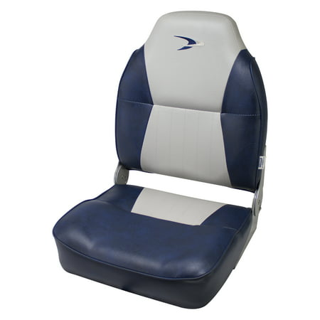 Wise 8WD640PLS-660 Lund Style High-Back Boat Seat, Grey / Navy ()