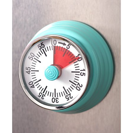 The Lakeside Collection 60-minute Retro Magnetic Kitchen Timer - Teal