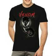 Marvel Venom Airbrush Tongue Men's and Big Men's Graphic T-shirt