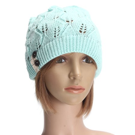 Fashion Winter Warm Over sized Hat Knit Baggy Beanie Hats Cotton Blends  Ski Outdoor Sports Hat - image 3 of 6