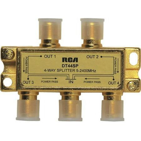 RCA 4 Way 2.4 Ghz Splitter Bi-Directional (1 Gigahertz Four Way Splitter)
