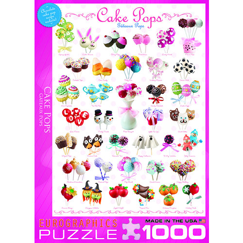 Cake Pops 1000 Piece Puzzle,  Dessert by Eurographics