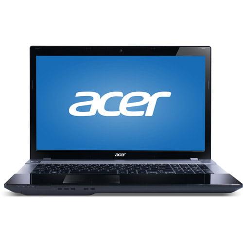 "Acer Silver/Black Aspire V3-731-4634  17.3"" Laptop PC with Intel Pentium B960 Processor, 4GB Memory, 500GB Hard Drive and Windows 7 Home Premium 64-Bit"