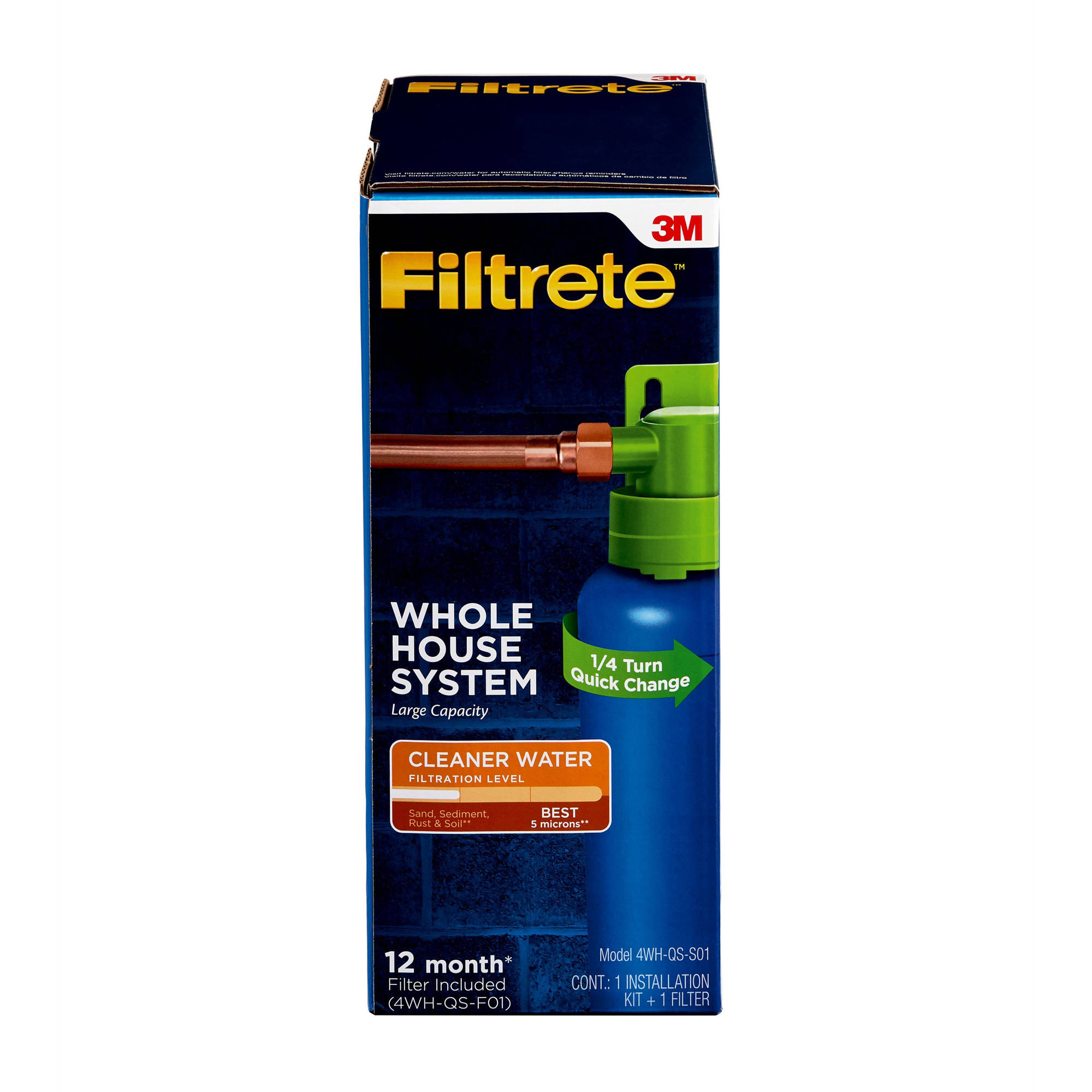 "Filtrete"" Quick Change Whole House System, Large Capacity, Basic Filtration (sediment)"