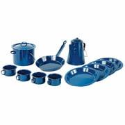 World Famous™ 13-piece Blue Enamel Campware Set
