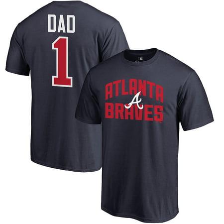 Atlanta Braves Fanatics Branded 2019 Father's Day Big & Tall #1 Dad T-Shirt -