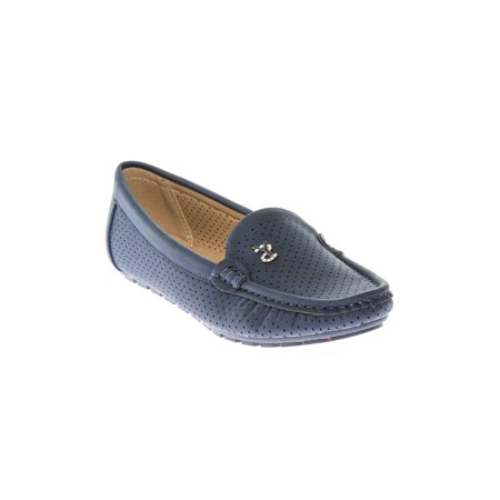 16236b2cb80 Women s Comfort Loafers Mocassins Slip On Flats Shoes Navy - Walmart.com