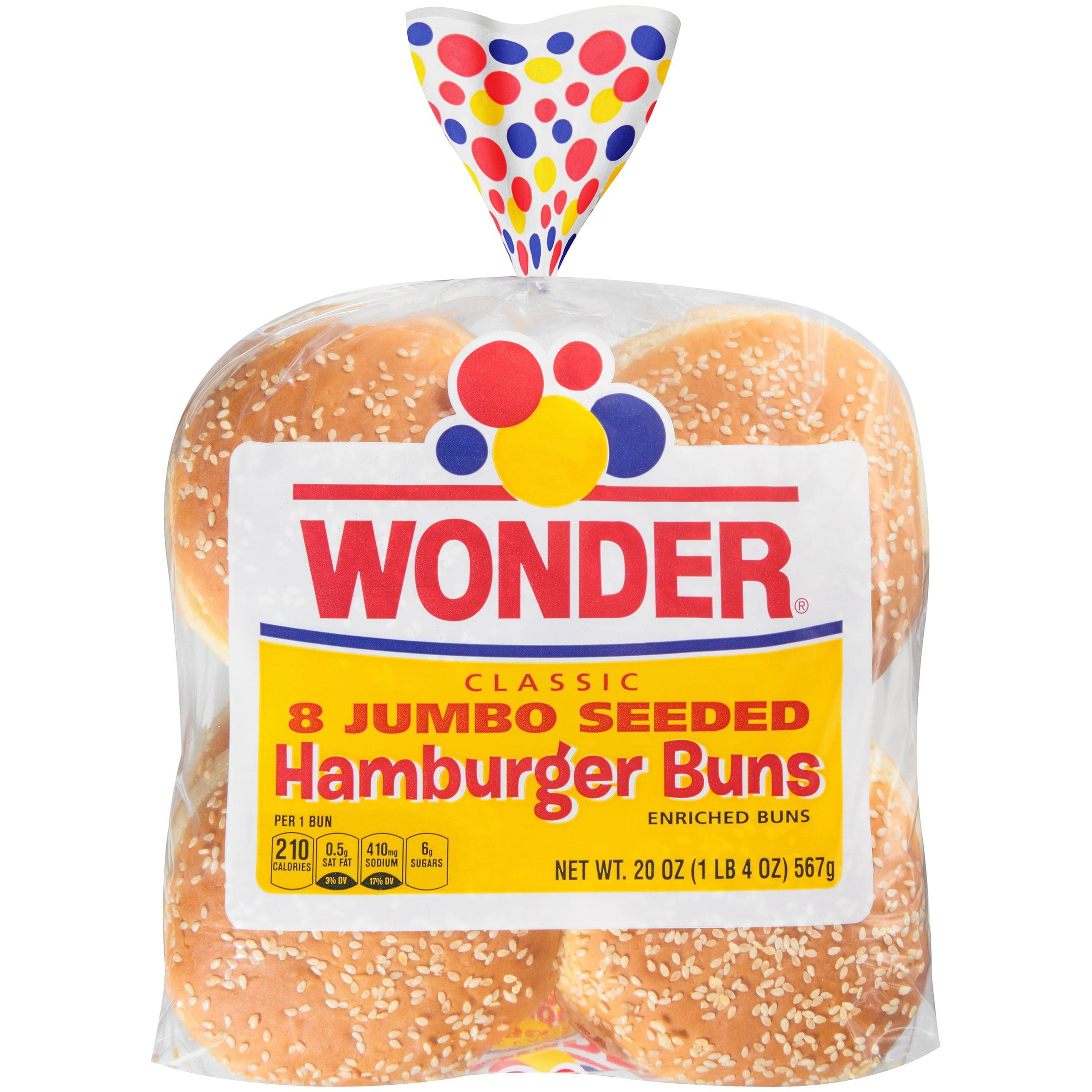 Wonder® Classic Jumbo Seeded Hamburger Buns 20 oz. Bag