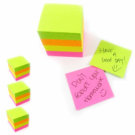 1600 Mini Post Sticky Notes Cube 1 5 X1 5 Self Adhesive Memo Pad 3Pk Office Desk