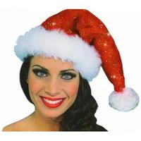 Sparkle Santa Hat Adult Costume Accessory