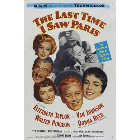 Last Time I Saw Paris POSTER Movie B Mini Promo for $<!---->
