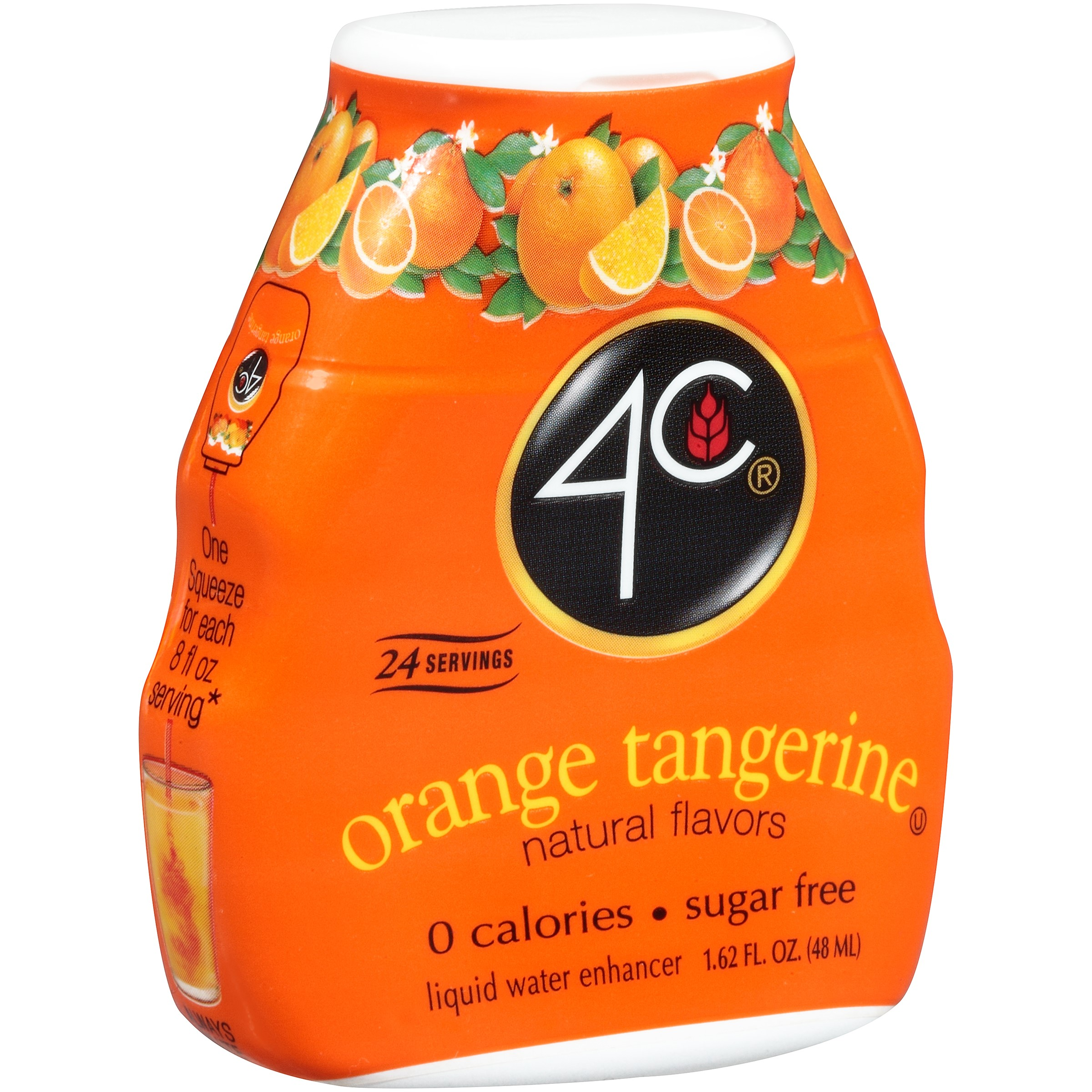 Image of 4C Totally Light PSD-Liquid Water Enhancer, Orange/Tangerine, 1.62 Ounce