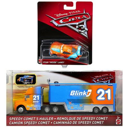 Cars Diecast Ryan Inside Laney & Speedy Comet's Hauler 1:55 Scale (Ryan Lane)