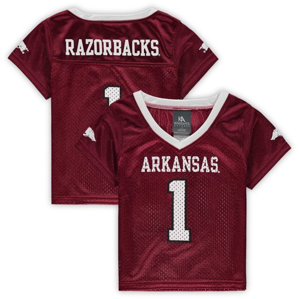 Toddler Russell Athletic Cardinal Arkansas Razorbacks Replica Football Jersey