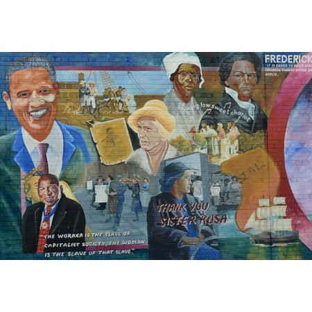 LAMINATED POSTER Sister Rosa Mural Barack Obama Conflict Belfast Poster Print 24 x -