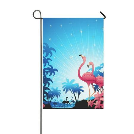 MKHERT Pink Flamingos Garden Flag Banner Decorative Flag for Wedding Party Yard Home Outdoor Decor 12x18 inch](Flamingo Outdoor Decor)
